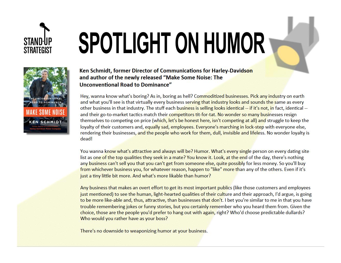 Ken Schmidt | Spotlight on Humor